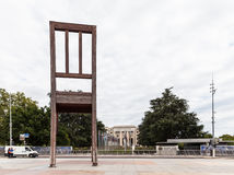 Broken Chair on the Place des Nations, Geneva Stock Photos