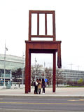 Broken Chair on the Place des Nations, Geneva, Switzerland Stock Image