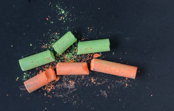 Broken chalk Royalty Free Stock Photography