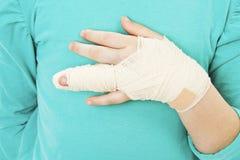 Broken child hand Royalty Free Stock Image