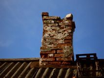 Broken chimney Stock Photo