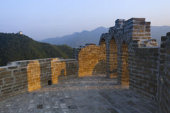 Broken China Great Wall in sunset Stock Photography