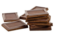 Broken chocolate bar Stock Photography
