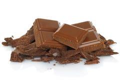 Broken chocolate bar Stock Photography