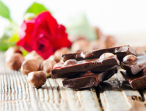Broken chocolate bar Stock Image
