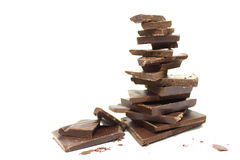 Free Broken Chocolate Bar On A White Background Royalty Free Stock Photo - 30158355