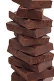 Broken chocolate bar stack Stock Image