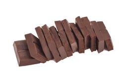 Broken chocolate bar stack Royalty Free Stock Image