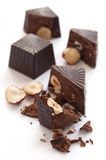 Broken chocolate candies Royalty Free Stock Image