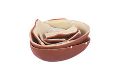 Broken Chocolate Egg Stock Images