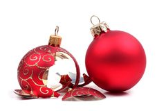 Free Broken Christmas Ball Stock Photo - 1568930