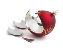 Broken Christmas ball Stock Photography