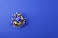 Broken christmas ball Royalty Free Stock Images