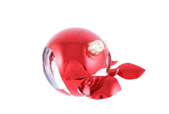 Broken christmas ball isolated Royalty Free Stock Image