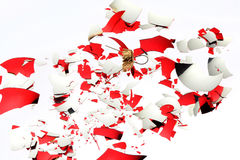 Broken christmas ball Stock Image