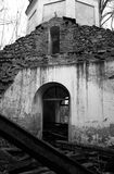 Broken church entrance Royalty Free Stock Photography