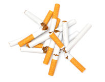 broken cigarett Arkivfoto