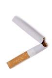 broken cigarett Royaltyfria Bilder