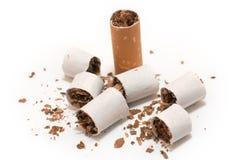 broken cigarett Royaltyfri Foto