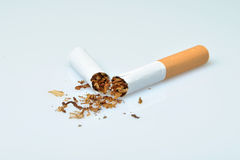 Broken cigarette Royalty Free Stock Photography