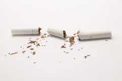 Broken Cigarette Royalty Free Stock Photography