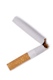 Broken  cigarette. Anti-smoking campaign design: cigarette butt Royalty Free Stock Images