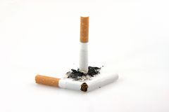Broken cigarette Royalty Free Stock Photo