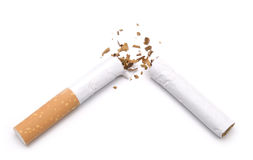 Broken cigarette Stock Images