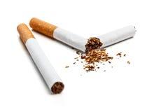 Broken cigarette Royalty Free Stock Images