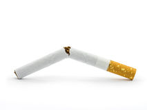 Broken cigarette Stock Photography