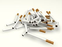 Broken cigarettes Stock Photo