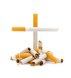 Broken cigarettes Royalty Free Stock Photography