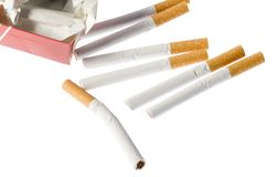 Broken cigarettes Royalty Free Stock Photo