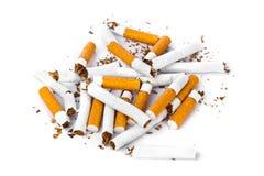 Broken cigarettes Royalty Free Stock Photos