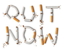 Broken cigarettes Stock Photography