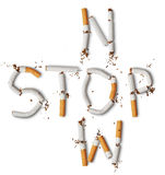 Broken cigarettes Royalty Free Stock Images