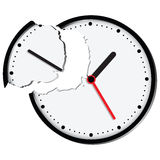 Broken clock face Stock Photography