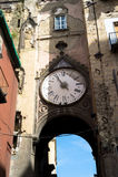 Broken clock,Naples Royalty Free Stock Photography