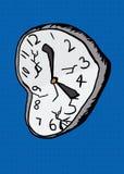Broken Clock Over Blue Stock Photo