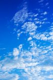 Broken clouds against the evening blue sky Royalty Free Stock Images