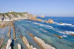 Broken Coast At Liencres (Spain) Stock Photography