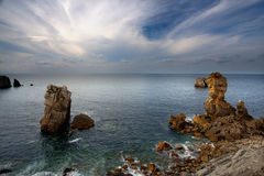 The  Broken Coast.Cantabria,Spain. Stock Photo
