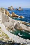 Broken coast at Liencres (Spain) Stock Photo