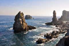 Broken coast at Liencres (Spain) Royalty Free Stock Photos