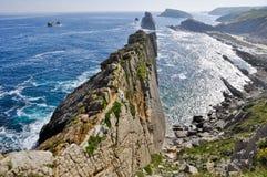 Broken coast at Liencres, Spain Royalty Free Stock Photos