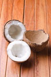 Broken coconut Stock Images