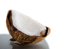 Broken coconut Stock Photography