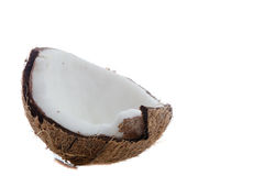 Broken coconut Stock Image