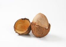 Broken coconut Stock Image