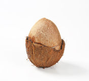 Broken coconut Royalty Free Stock Photo